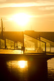 восход солнца barcellona Стоковое Изображение RF