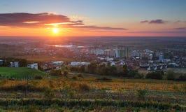 восход солнца bratislava стоковая фотография rf