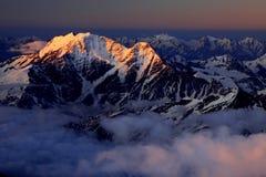 восход солнца caucasus Стоковые Фотографии RF