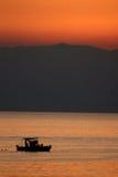 восход солнца corfu Стоковое Фото