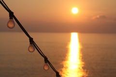 восход солнца cruiseship Стоковое фото RF