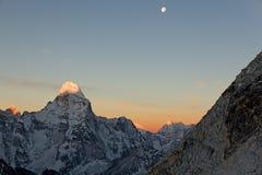 восход солнца dablam ama Стоковые Изображения