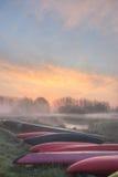 восход солнца dijle Стоковая Фотография RF