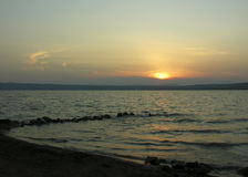 восход солнца firey Стоковое фото RF