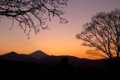 восход солнца fuji mt Стоковые Фото