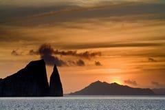 восход солнца galapagos Стоковые Фотографии RF