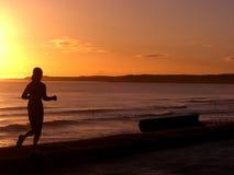 восход солнца jogger Стоковая Фотография RF