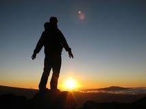 восход солнца kilauea Стоковое Изображение RF