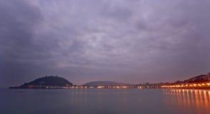 восход солнца la euskadi concha пляжа Стоковая Фотография RF