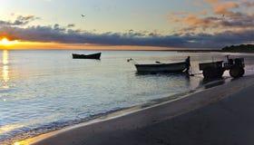 восход солнца latvia рыболовства страны Стоковые Изображения