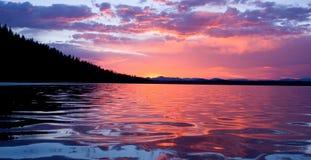 восход солнца leigh озера Стоковое фото RF