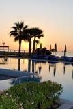 восход солнца limassol стоковое фото rf