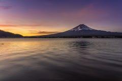 Восход солнца Mt Фудзи стоковые изображения rf