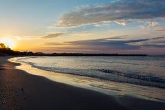 Восход солнца plage Vias стоковое фото rf