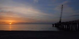 Восход солнца Pompano стоковые изображения