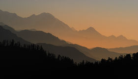 восход солнца poonhill стоковое изображение rf