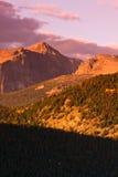 восход солнца rockies стоковые изображения rf