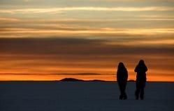 восход солнца salar Стоковые Фотографии RF