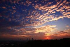 восход солнца shah alam Стоковая Фотография