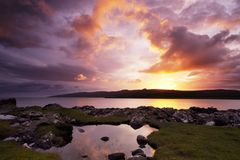 восход солнца skye острова Стоковое фото RF