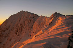 восход солнца snowdon Стоковое Изображение RF