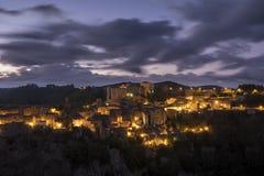 Восход солнца Sorano Стоковые Изображения