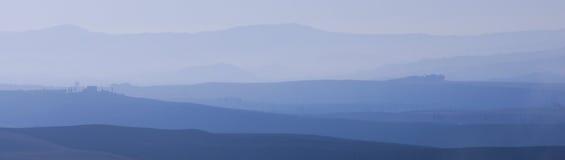 восход солнца tuscan orcia d val Стоковые Изображения RF