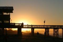 восход солнца ventura пристани Стоковая Фотография RF