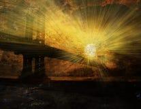 восход солнца york города новый иллюстрация штока