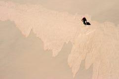 Восхождение к огромной дюне Стоковая Фотография