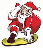 Восхождение на борт конька Санта Клауса Стоковые Изображения RF