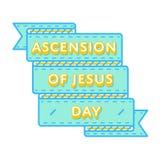 Восхождение эмблемы приветствию праздника Иисуса Стоковые Изображения
