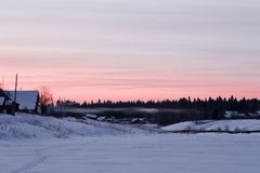 Восход солнца зимы Стоковые Изображения RF