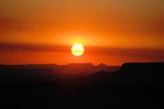 восход солнца каньона Стоковое Изображение RF