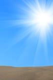 восход солнца кварцевого песка пустыни Стоковое Изображение