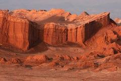 восход солнца красного цвета скал Стоковое Изображение RF