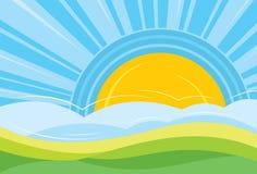 восход солнца ландшафта Стоковое Изображение RF