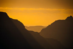 Восход солнца на грандиозном каньоне Стоковая Фотография RF