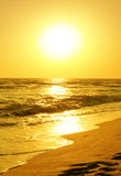 Восход солнца над морем Стоковое Изображение