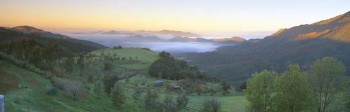 Восход солнца через долину Сан Фернандо Стоковая Фотография