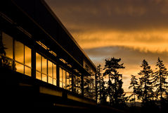 восход солнца яркий Стоковые Изображения RF