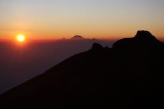 восход солнца bali Стоковая Фотография