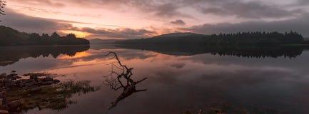 Восход солнца Burrator Стоковое фото RF