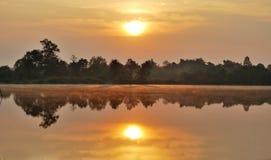 восход солнца chiangmai Стоковое Изображение RF