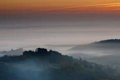 восход солнца montepulciano Италии Стоковые Фотографии RF