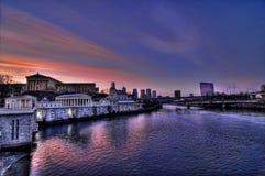 восход солнца philadelphia Стоковая Фотография RF