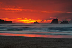 восход солнца seascape Стоковые Изображения RF