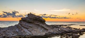 Восход солнца Анконы на море Стоковые Фотографии RF