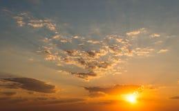 Восход солнца ландшафта над морем Стоковые Изображения RF