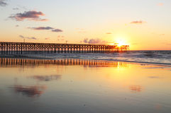 Восход солнца Атлантического океана Стоковое Изображение RF